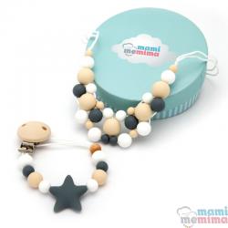Conjunto Collar Mordedor y Chupetero Mordedor Star Baby