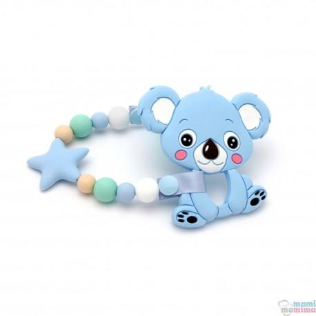 Pacote de Presente Com Tira de Chucha Star Blue&Mint e Mordedor Koala