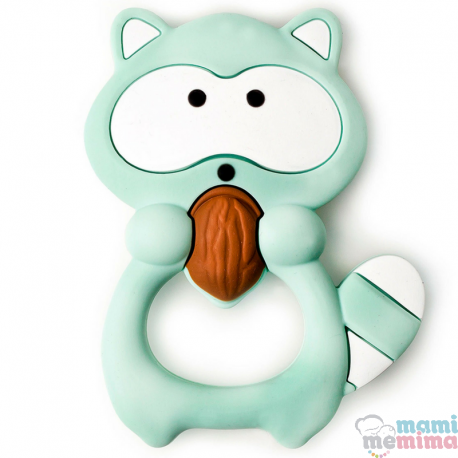 Mordedor Silicone Baby Guaxinim Mint