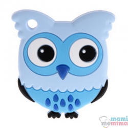 Mordedor Silicone Baby Coruja Azul