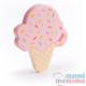 Mordedor Silicona Ice Cream Pink