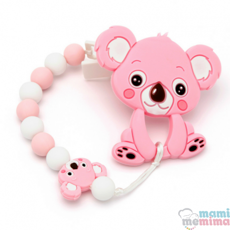 Pack Corrente de Chupeta + Mordedor Bebê koala