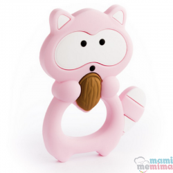 Mordedor Silicone Baby Guaxinim Pink