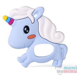 Mordedor Silicone Unicorn Azul