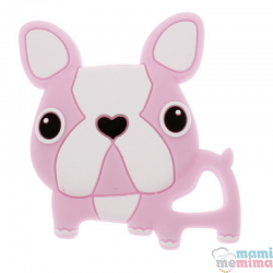 Mordedor Silicona Frenchie Bulldog Rosa