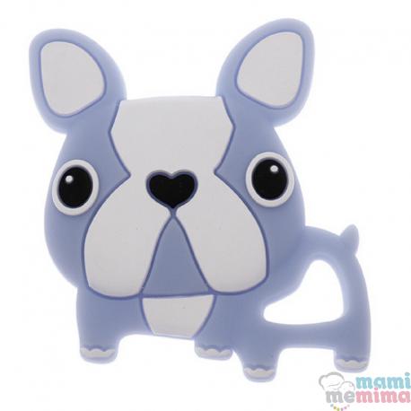 Mordedor Silicona Frenchie Bulldog Azul