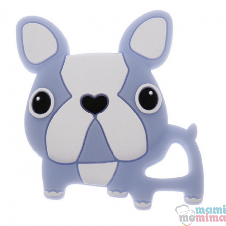 Mordedor Silicone Frenchie Bulldog Azul