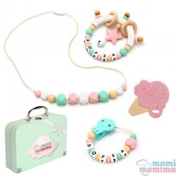 Canastilla Bebé Pink&Mint Summer Edition - Felicidades Mamá, Bienvenido Bebé.