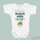 """Body Bebê Personalizado com o Nome Mint """"Bolo acabado de fazer"""""""