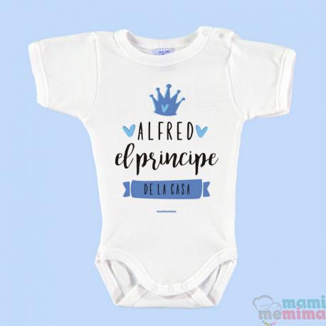 """Body Bebé Personalizado """"Soy el príncipe de la casa azul"""""""