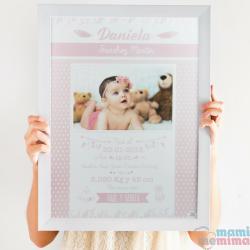 Poster Nascimento Rosa com fotografia