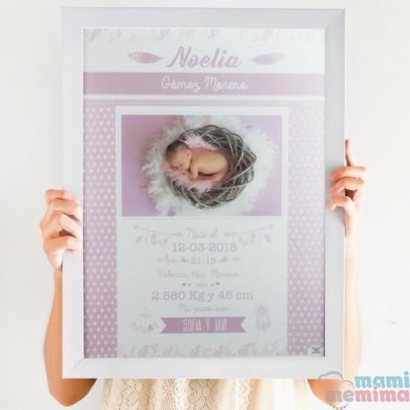 Poster Nascimento Morado com fotografia