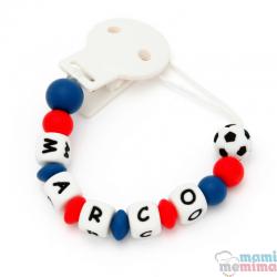Catenella Portaciuccio Silicone Con Nome Personalizatto F.C Barcelona
