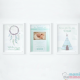 Pacote 3 Poster: Poster Nascimento e Dois Poster Decorativos Mint