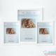 Pack 3 Cuadros de Nacimiento con Foto Azul