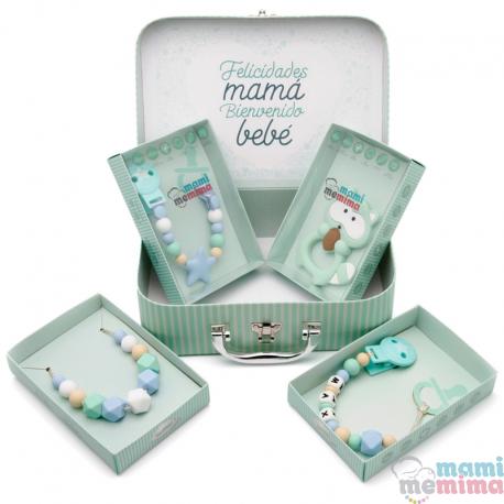 Canastilla Bebé Azul | Felicidades Mamá, Bienvenido Bebé.