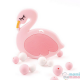 Mordedor Silicona Flamingo Rosa