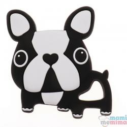 Mordedor Silicona Frenchie Bulldog Black&White