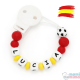Sujeta Chupetes Mordedor Personalizado de Silicona Selección Española Limited Edition