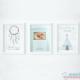Pack 3 Láminas - Lámina de Nacimiento y Láminas Decorativas Color Mint
