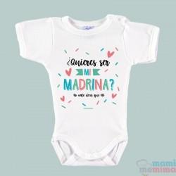 Body Bebé Padrinos ¿Quieres ser mi madrina/padrino?