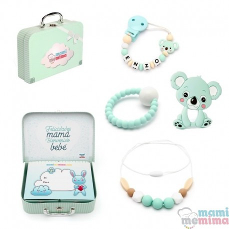 Canastilla Bebé Koala Mint - Felicidades Mamá, Bienvenido Bebé.