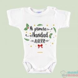 """Body Bebé Personalizado """"Mi Primera Navidad"""""""