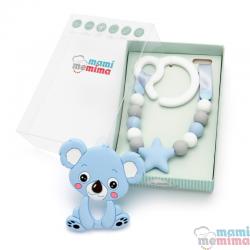 Pack Juguete Mordedor Para Carrito Con Mordedor Koala Azul