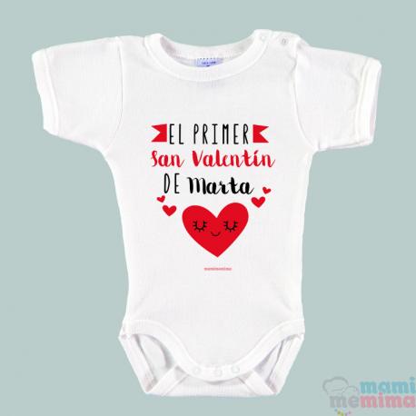 """Body Bebé Personalizado """"Mi primer San Valentín"""""""