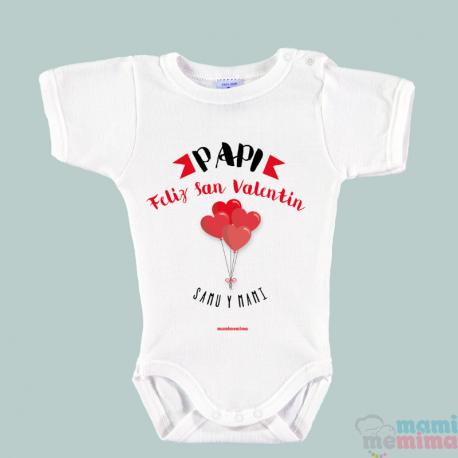 """Body Bebé Personalizado """"Feliz San Valentín Papi"""""""""""