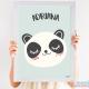 Cuadro Infantil Nórdico Personalizado Bebé Panda