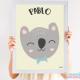 Cuadro Infantil Nórdico Personalizado Baby Koala