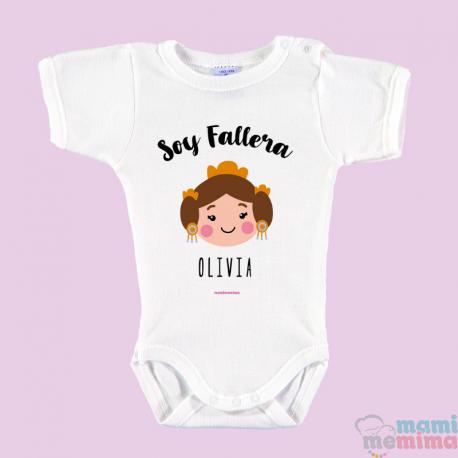 """Body Bebé Personalizado con Nombre Rosa """"Pastelito Recién Hecho"""""""
