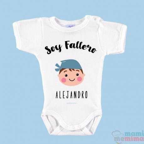 """Body Bebé Fallas Personalizado """"Soy Fallera"""""""