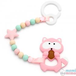 Pack Juguete Mordedor Para Carrito Pink&Mint Con Mordedor Mapache