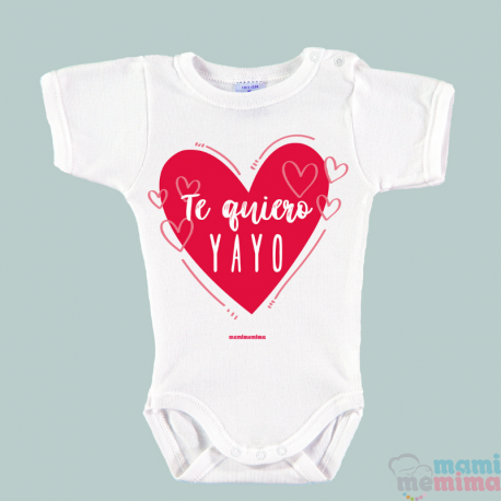 "Body Bebé Frases Abuelo ""Te Quiero Yayo"""