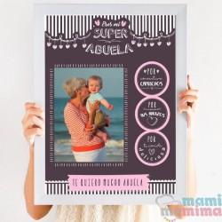 Lámina Súper Abuela Personalizada