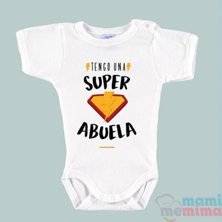 """Body Bebé Frases Abuela """"Tengo Una Súper Abuela"""""""