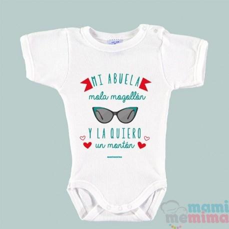 """Body Bebé Frases Abuela """"Mi Abuela Mola Mogollón Y La Quiero Un Montón"""""""
