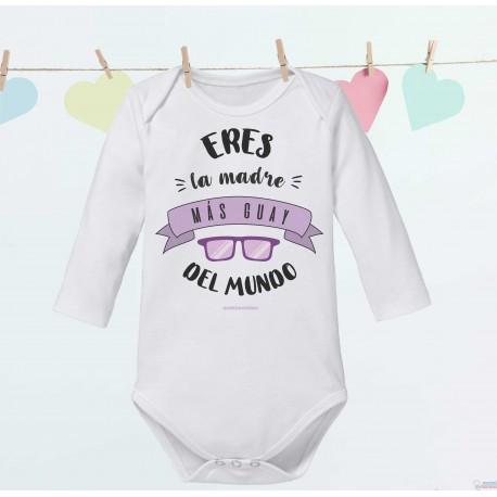 """Body Bebé Frases Mamá """"Eres la madre más guay del mundo"""""""