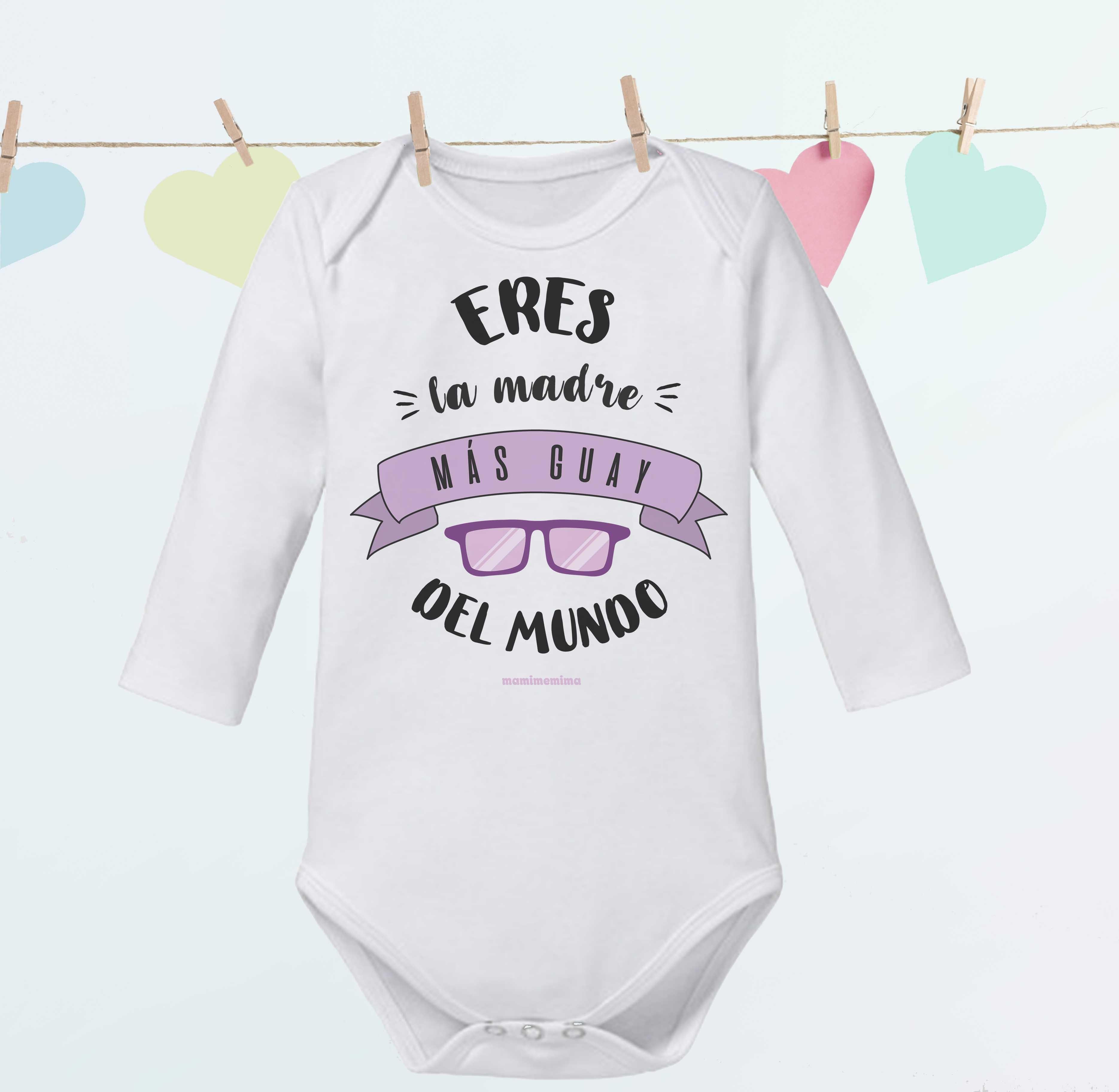 Body Bebé Papá Frases Mamá Regalo Día De La Madre Mami Me Mima