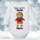 """Body Bebé Personalizado Navidad """"Pequeña ayudante Santa"""""""