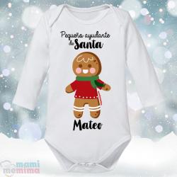 """Body Bebé Personalizado Navidad """"Pequeño ayudante Santa"""""""