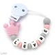 Sujeta Chupetes Mordedor Personalizado de Silicona PRINCESS Sweet Pink