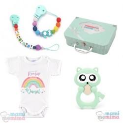 Canastilla Mima Rainbow Arcoiris - Felicidades Mamá, Bienvenido Bebé