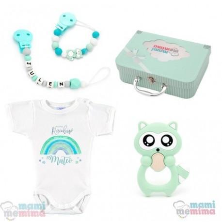 Canastilla Mima Rainbow Mint - Felicidades Mamá, Bienvenido Bebé