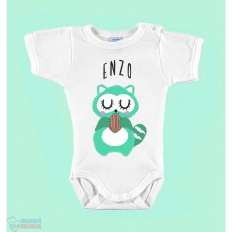 "Body Bebé Personalizado ""Mapache"""
