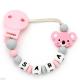 Chupetero Mordedor Personalizado de Silicona Koala Sweet Pink