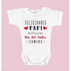 """Body Bebé Día del Padre """"FELICIDADES PAPI"""""""