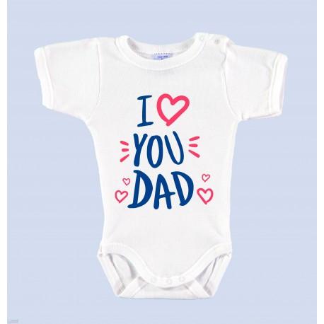 """Body Bebé Día del Padre """"I LOVE YOU DAD"""""""
